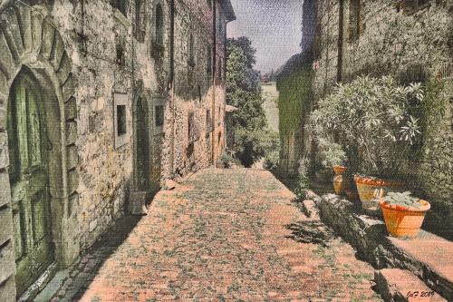 Italian Village street, Tuscany