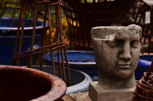 earthenware head