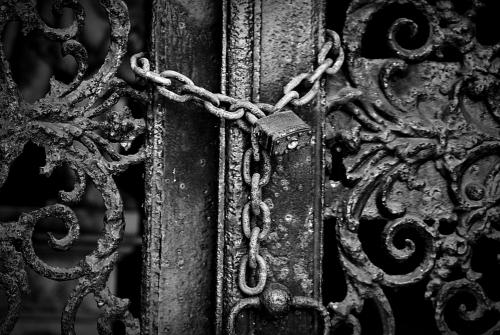 mausoleum padlock